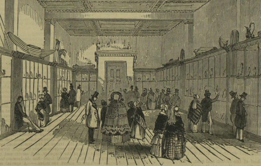"""图11 1845年观众在大英博物馆参观""""宁波钟"""".jpg"""